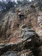 Rock Climbing Photo: The great holds keep on coming on the steep Over B...