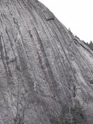 Rock Climbing Photo: The middle portion between the anchors is pitch 2.