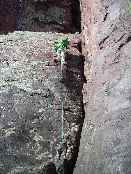 Rock Climbing Photo: Jon J. taking on Boyscout in MT boots.  Stellar wa...