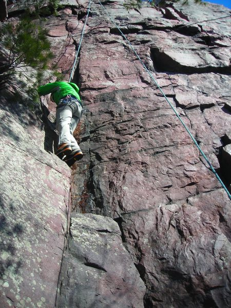 Rock Climbing Photo: TR of Evanston TWNSP 5.10b variation.  Feb. 19th, ...