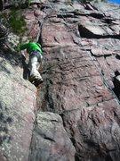 Rock Climbing Photo: TR of Evanston TWNSP 5.10b variation.  Feb. 19th, ...