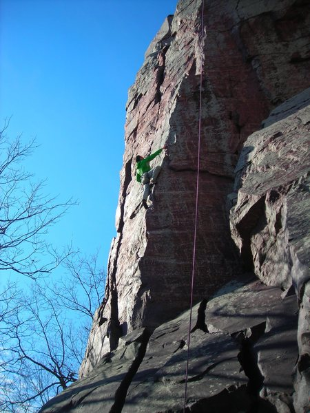 Rock Climbing Photo: Best 5.9 in DLSTP if you ask me.  It was catching ...