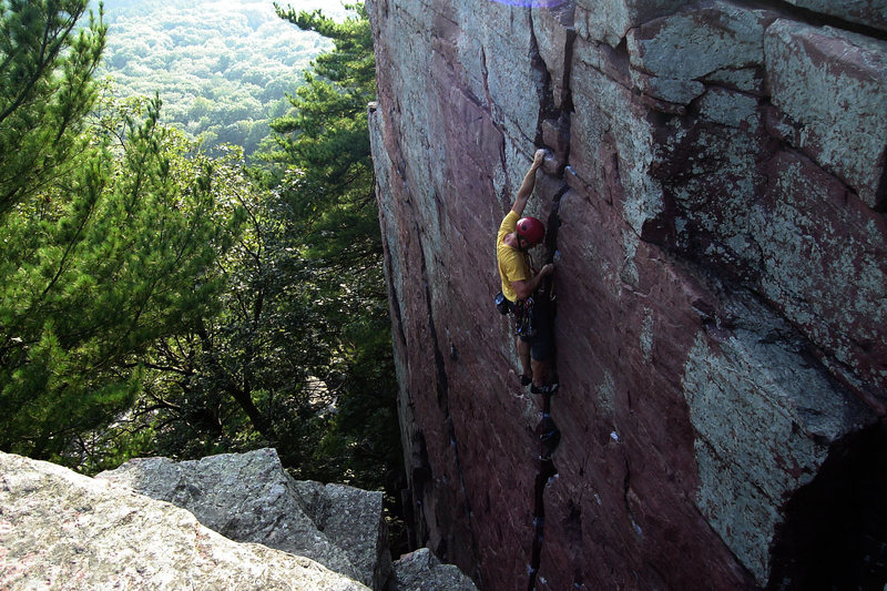 Rock Climbing Photo: Birch Tree Crack
