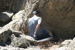 Rock Climbing Photo: Sit down start. Photo by Noreen Owen.