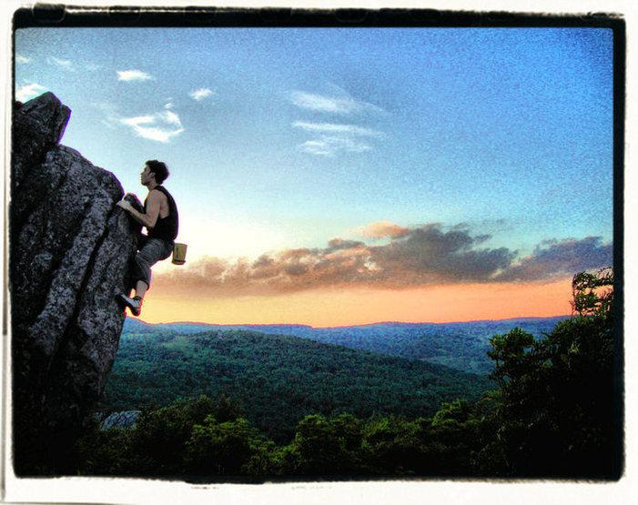 Rock Climbing Photo: Aaron Parlier on Sunset Arête
