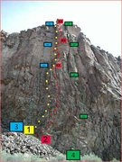 Rock Climbing Photo: 1-Sun DevilCrack 2-Sun Devil  3-Astro Devil 4-Sun ...