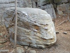Rock Climbing Photo: The Bowling Ball. Spare climbs the very blunt prow...