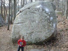 Rock Climbing Photo: The other side of the Bowling Ball, Kingpin, a rec...
