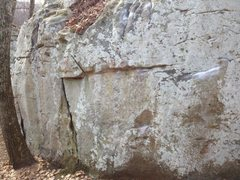 Rock Climbing Photo: Pinch the Loaf starts on the flat edge and goes st...