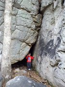 Rock Climbing Photo: Lucas is pointing out the tunnel that leads from C...