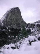 Rock Climbing Photo: Liberty Cap and Nevada Falls in February.
