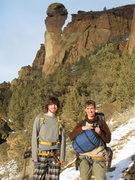Rock Climbing Photo: Colin and me with Monkey face in the background