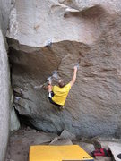 Rock Climbing Photo: Gaining the start of Instinct after traversing the...