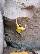 Rock Climbing Photo: Sticking the slopey lip jug on Instinct.