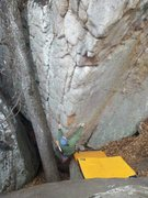 Rock Climbing Photo: Destroyer. This is not a scrunchy start, so this s...