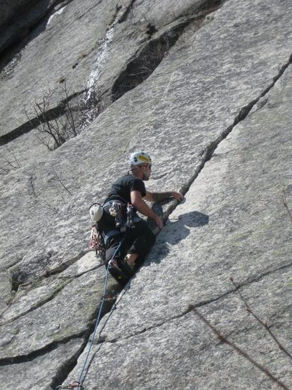 Rock Climbing Photo: Slow and easy - Cannon Cliff, NH