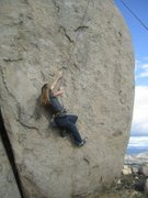 Rock Climbing Photo: cool moves on Hellrazor