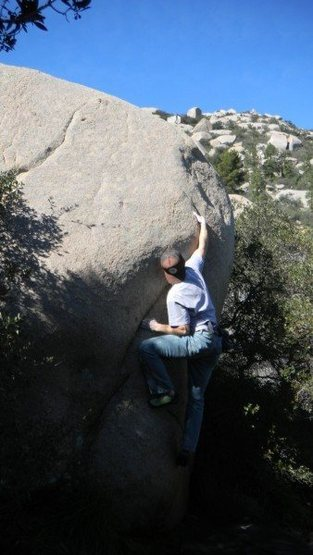 Rock Climbing Photo: Korean Cowboy on Mt. Woodson photo by: Bald Mantle