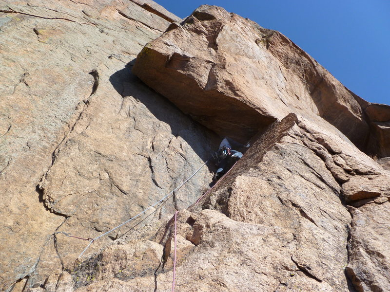 "Rock Climbing Photo: Heading up the sketchy ""R"" ramp to the r..."