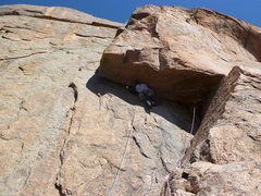 Rock Climbing Photo: Moving into the crux.  A #5 Camalot is great to ha...