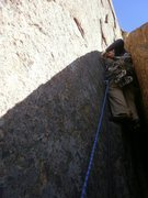 Rock Climbing Photo: Starting up P2 with more gear than anyone should E...