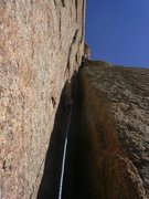 Rock Climbing Photo: The crux of pitch 2.