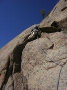 Rock Climbing Photo: The start of 3rd pitch.