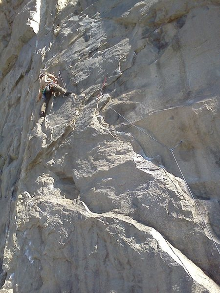 Rock Climbing Photo: A look at Whammy Play from the bottom up.  Just be...