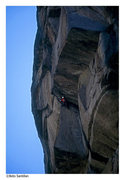 Rock Climbing Photo: redpoint crux comes at the end of the pitch. Gruel...