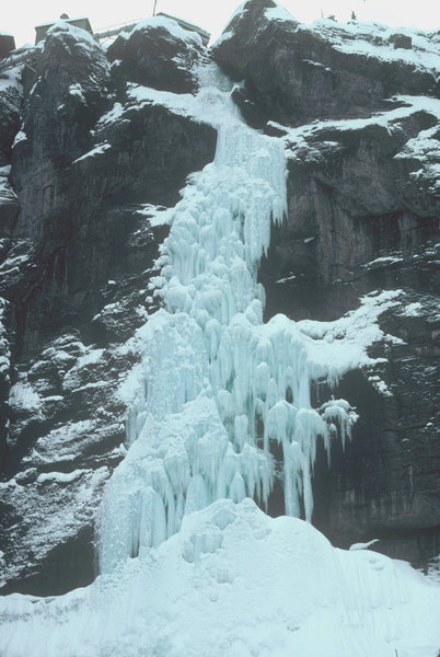Rock Climbing Photo: Late season, 1979...lots of ice!