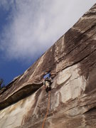 Rock Climbing Photo: The start of Dinkus.  Only gets more exciting.