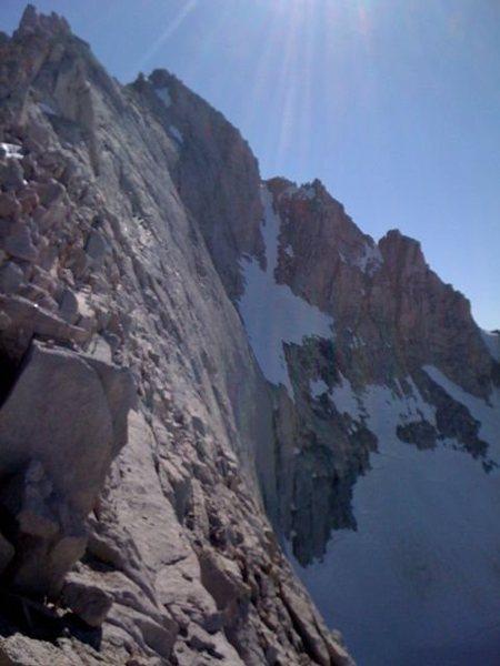 North ridge / arete Mt Russell I believe...fun class 3+