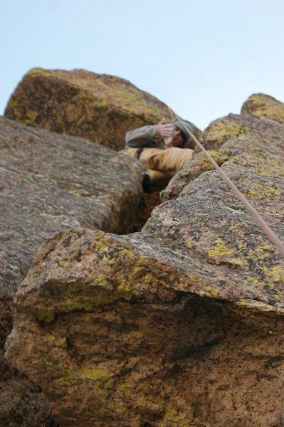 Me on a classic climb in Ruxton.