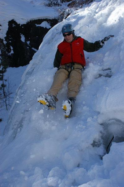 Rock Climbing Photo: Me down climbing.