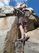 Rock Climbing Photo: The opening move to get this ledge, is probably a ...