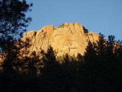 Rock Climbing Photo: Sunshine Wall right before sunset.