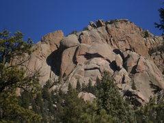 Rock Climbing Photo: Sunshine Wall with late morning shadows....
