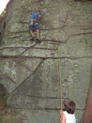 Rock Climbing Photo: monkey see monkey do. my son ryan belaying