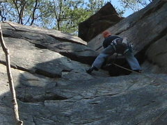 Rock Climbing Photo: finishing lead of easily flakey