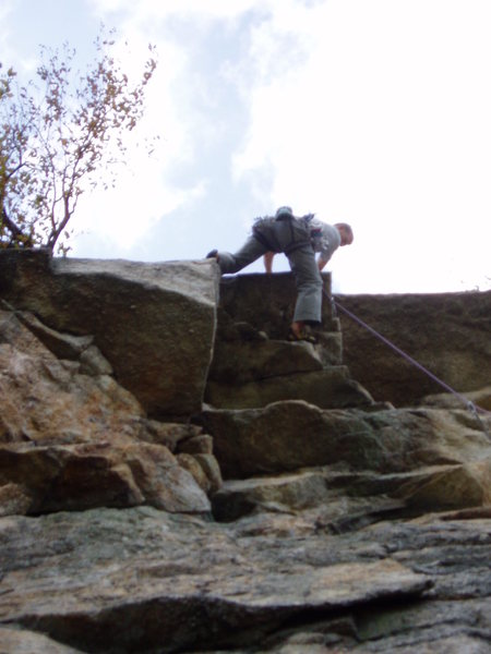 Rock Climbing Photo: swinging around the roof