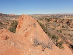 Rock Climbing Photo: From the top of In the Way, looking north towards ...