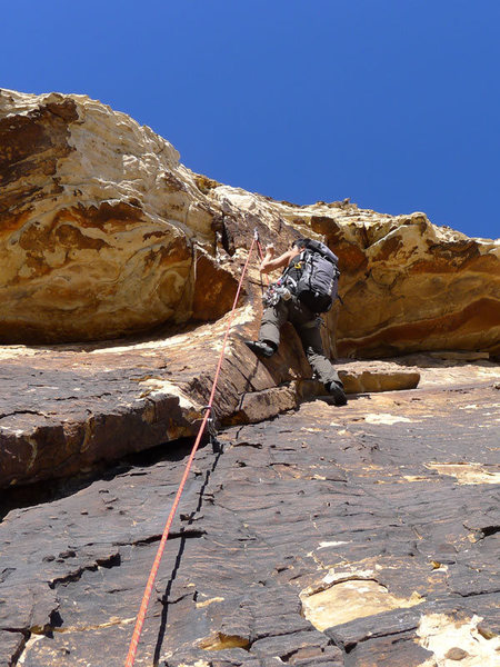 Rock Climbing Photo: at the P4 roof