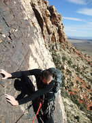 Rock Climbing Photo: Jascha admiring the ground