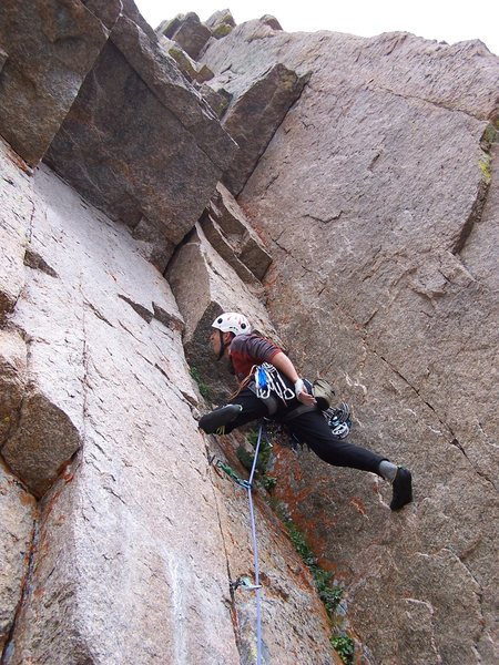 Rock Climbing Photo: Wide and Nasty 5.11a