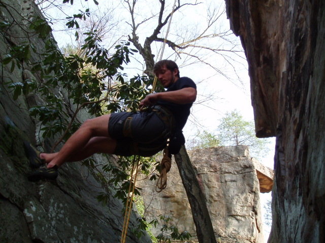 Rock Climbing Photo: kyle rap'n the pinnacle