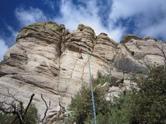 Rock Climbing Photo: Grain Dance stays in the crack system to the right...