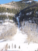 Rock Climbing Photo: 19th Fairway Vail CO ice.  Look close you can see ...