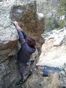 Rock Climbing Photo: Getting into the top out.