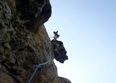 Rock Climbing Photo: Belaying at the top of pitch 1.