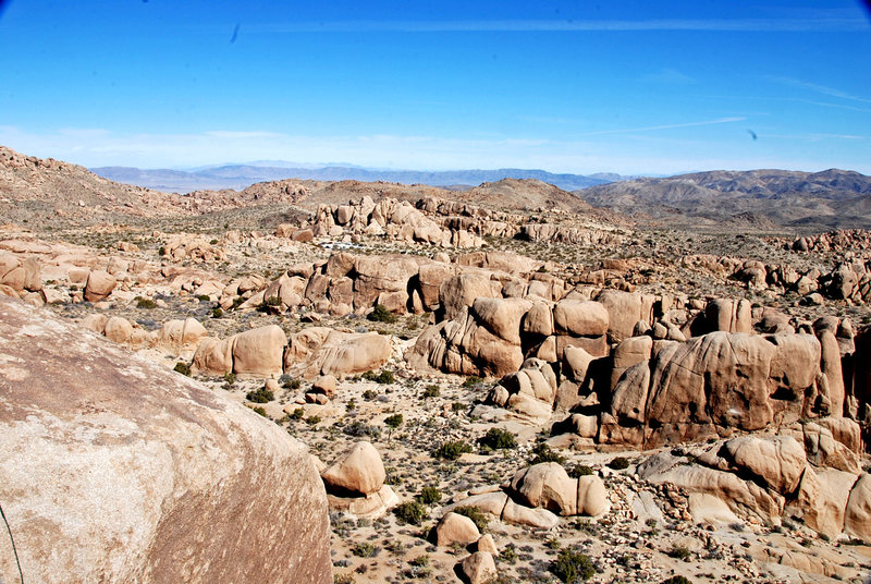 Rock Climbing Photo: View from the top of the rock. We were in a little...